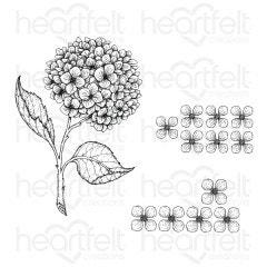 Cottage Garden Hydrangea Cling Stamp Set
