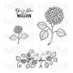 Fresh Cut Hydrangea Cling Stamp Set