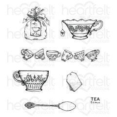 My Cup of Tea Cling Stamp Set