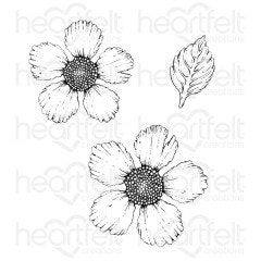 Large Wild Rose Cling Stamp Set