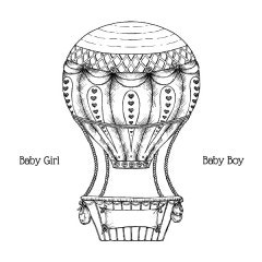 Baby's Air Balloon Cling Stamp Set