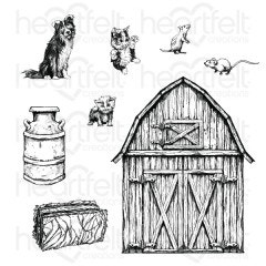 Home on the Farm Cling Stamp Set