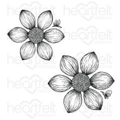 Dazzling Dahlia Cling Stamp Set