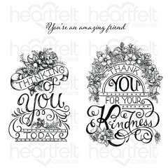 Elegant Gateway Sentiments Cling Stamp Set