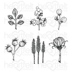 Floral Shoppe Accents Cling Stamp Set