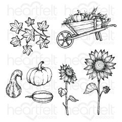 Countryside Autumn 'scapes Cling Stamp Set