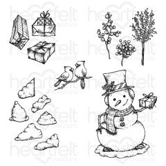 Countryside Winter 'scapes Cling Stamp Set