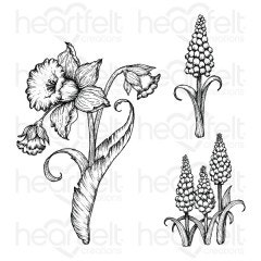 Delightful Daffodil & Hyacinth Cling Stamp Set