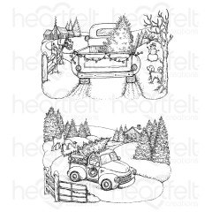 Home for the Holidays Cling Stamp Set