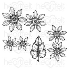 Rustic Sunflower Cling Stamp Set