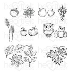 Autumn Wreath Accents Cling Stamp Set