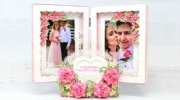 Decorative Floral Photo Frame
