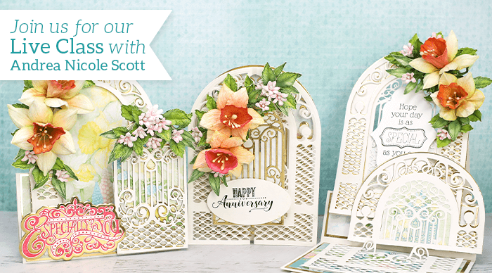 How to Create Interactive Easel Fold Cards & Elegant Florals