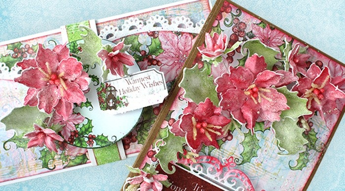 Elegant Christmas Foam Floral Mini Album Class