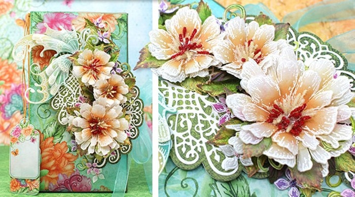 How to Create Vellum Flowers and Mini Album Class