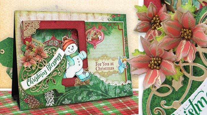 How to Create Christmas Decor with Layers, Coloring, and Glitter