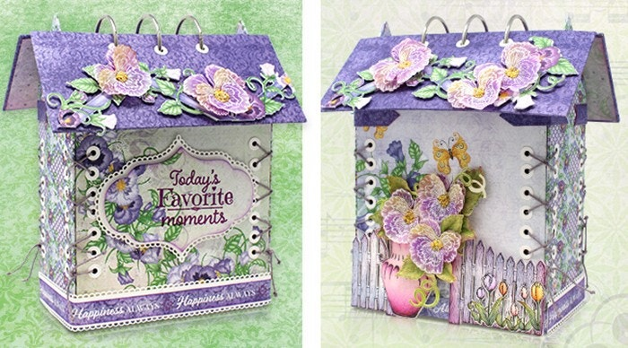 Burst of Spring Vellum Flowers & Birdhouse Album