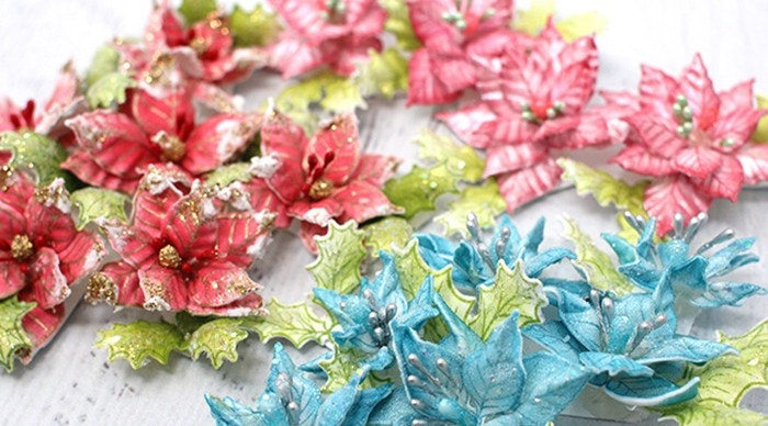 How to create Christmas Poinsettias 10 Different Ways