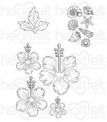 Tropical Hibiscus Cling Stamp Set