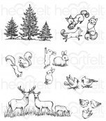 Woodsy Critters Cling Stamp Set