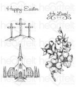Dogwood Chapel Cling Stamp Set