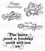 Classic Wedding Wishes Cling Stamp Set