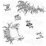 Sweet Lilac Scroll & Notes Cling Stamp Set