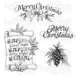 Silent Night Scroll Cling Stamp Set