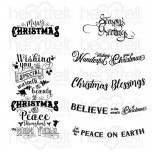 Noel Sentiments Cling Stamp Set