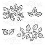 Leafy Accents Cling Stamp Set