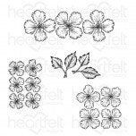 Oakberry Lane Blossoms Cling Stamp Set