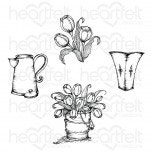 Tulip Bouquet Cling Stamp Set