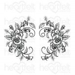 Delicate Pansy Spray Cling Stamp Set