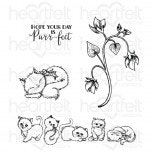 Purring and Playful Cling Stamp Set