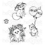 Playful Miss Kitty Cling Stamp Set
