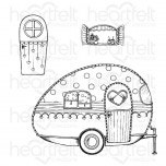 Happy Camper Cling Stamp Set