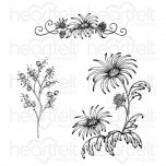 Wild Aster Spray Cling Stamp Set