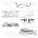 Sand and Sunsets Cling Stamp Set