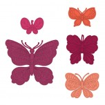 Small Floral Butterfly Die