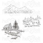 Create a 'scape Backcountry Cling Stamp Set