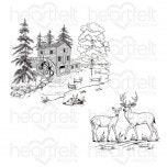 Create a 'scape Wilderness Cling Stamp Set