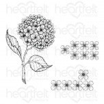 Cottage Garden Hydrangea Cling Stamp Set