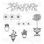 French Cottage 'scapes Cling Stamp Set