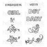 Welcome Baby Cling Stamp Set