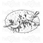 Snowy Pine Cardinals Cling Stamp Set