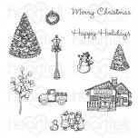Festive Winterscapes Cling Stamp Set