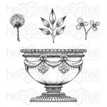 Large Floral Urn Cling Stamp Set