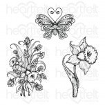 Delightful Daffodil & Butterfly Cling Stamp Set