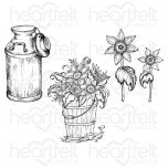 Rustic Sunflower Can & Freezer Cling Stamp Set