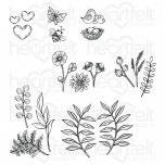 Summer Wreath Accents Cling Stamp Set